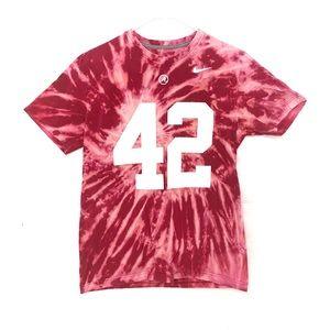 Alabama crimson tide custom dyed tshirt